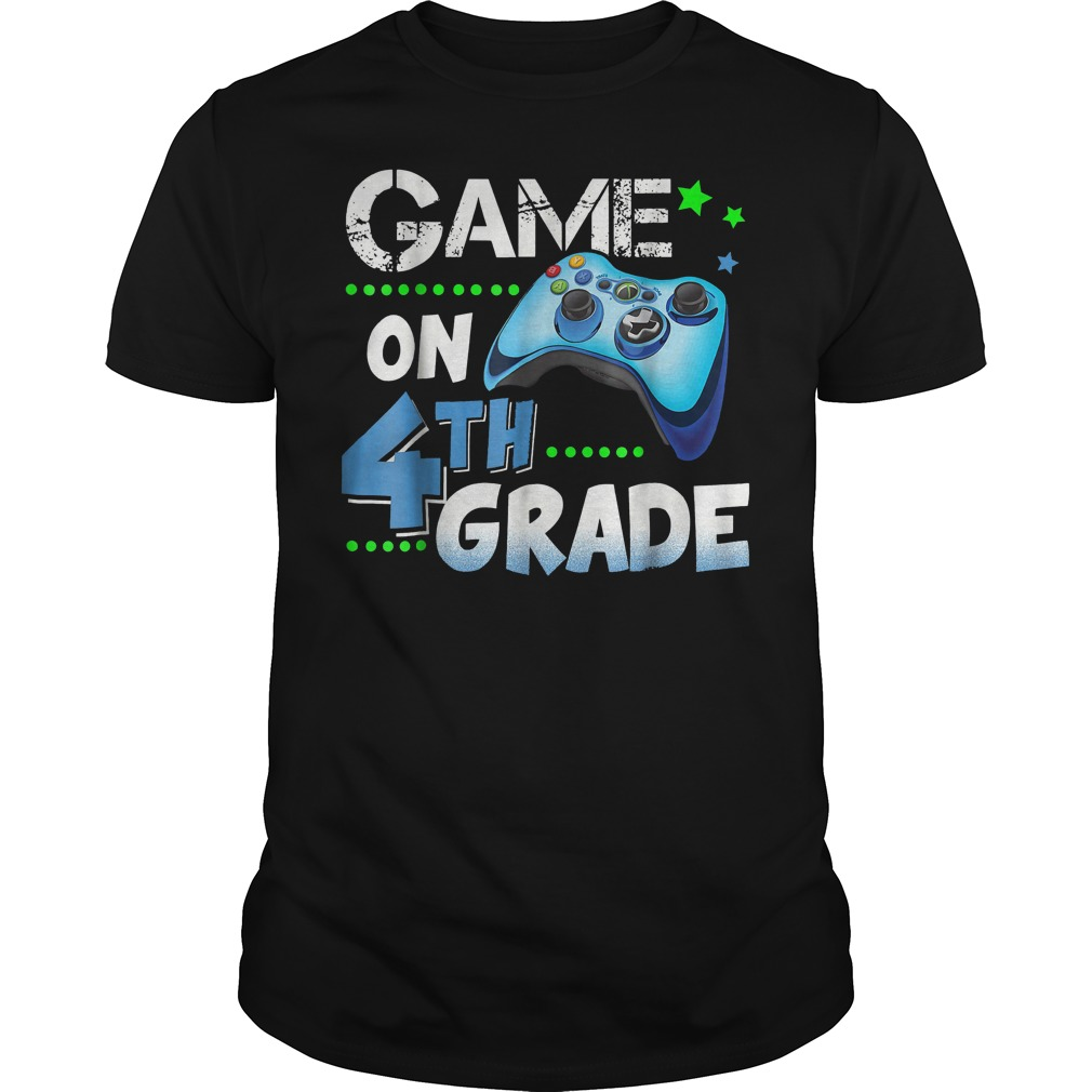 Top Game On 4th Grade Shirt