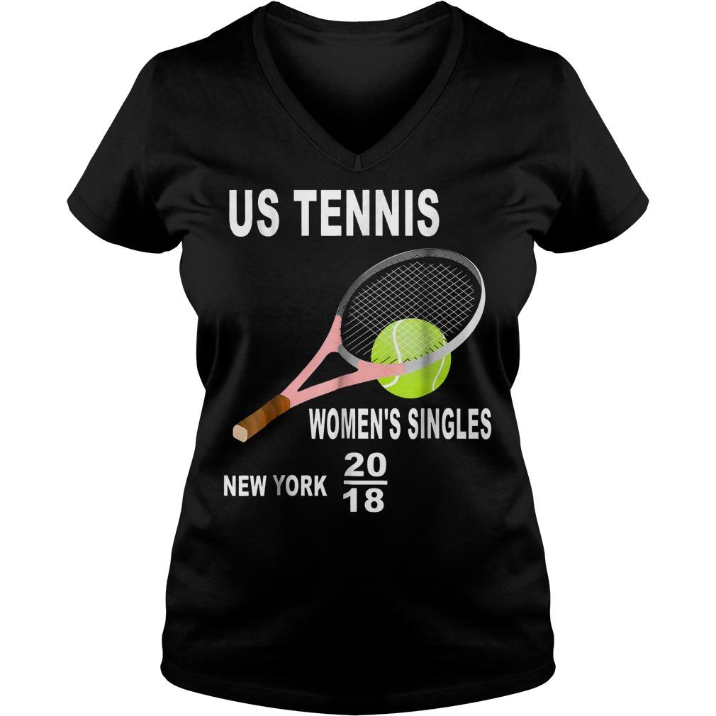 Us tennis women's singles New York 2018 Shirt Ladies V-Neck