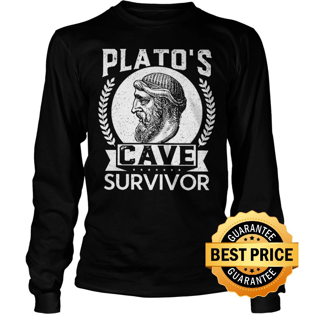 Cheap Shirt Plato's cave survivor Shirt Longsleeve Tee Unisex