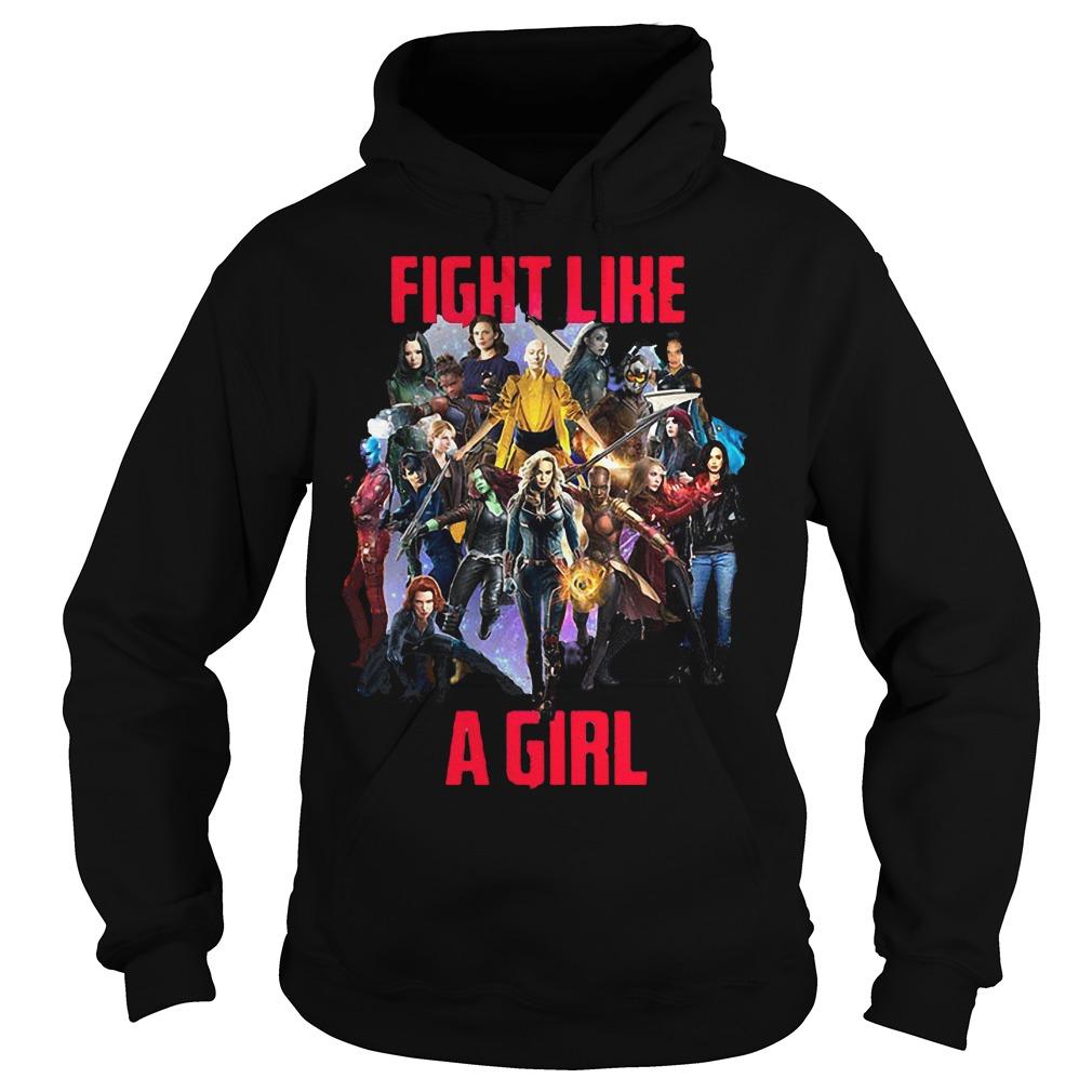 Fight like a girl shirt Hoodie