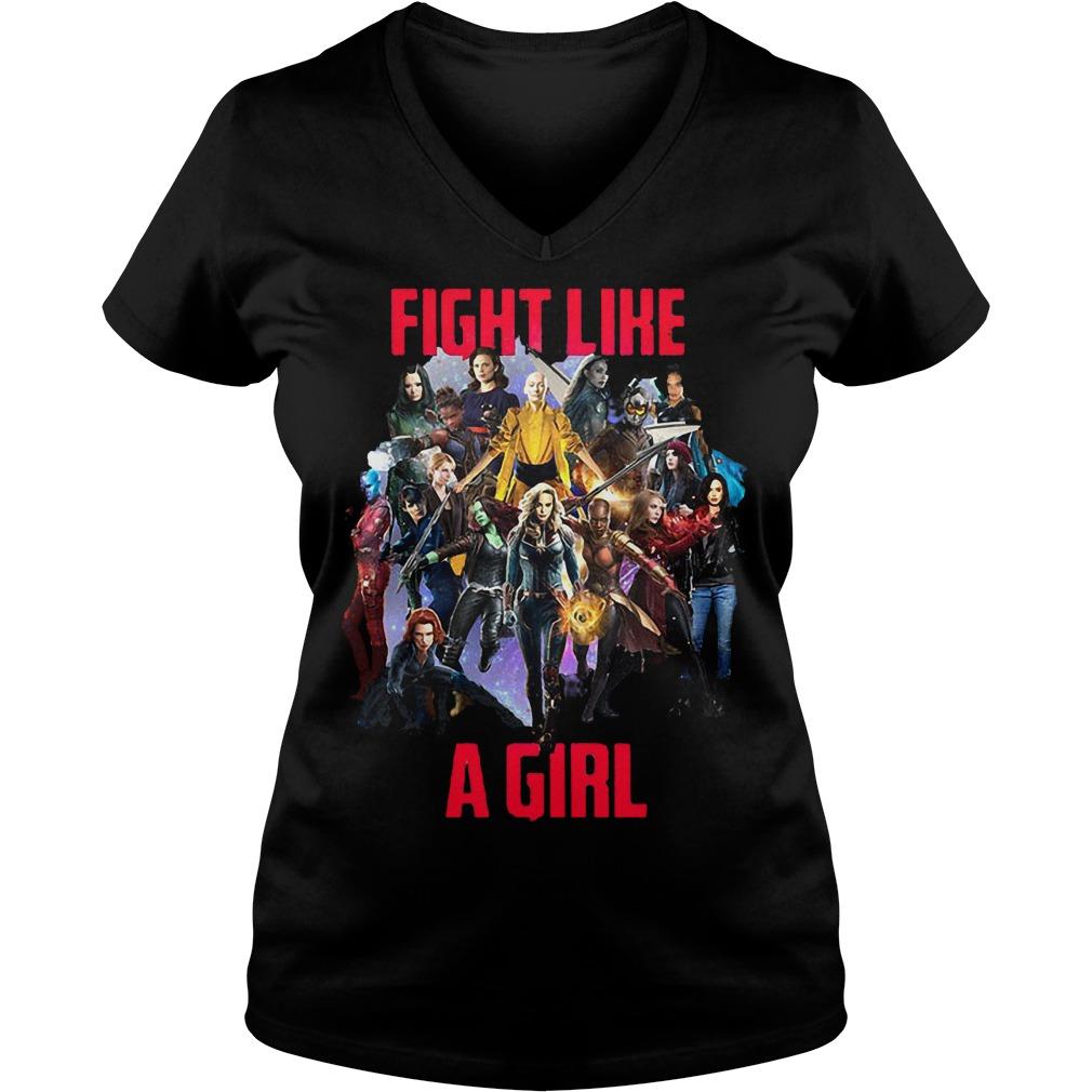 Fight like a girl shirt Ladies V-Neck