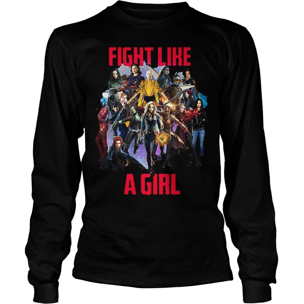 Fight like a girl shirt Longsleeve Tee Unisex