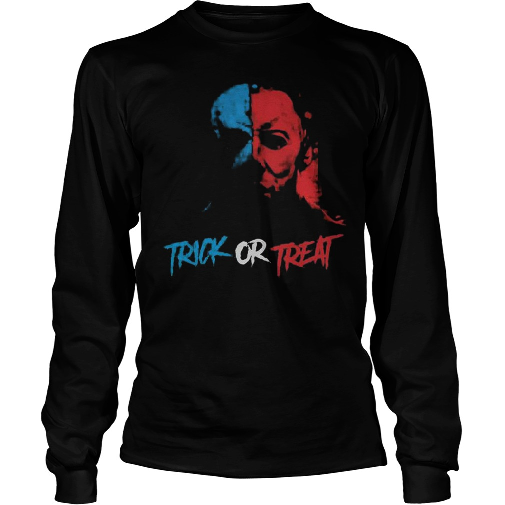 Halloween Jason face trick or treat Shirt Longsleeve Tee Unisex