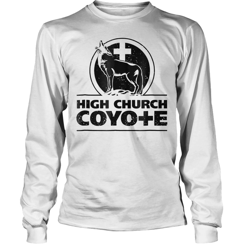 Holy Cross Coyote Logo High Church Coyote Shirt Longsleeve Tee Unisex