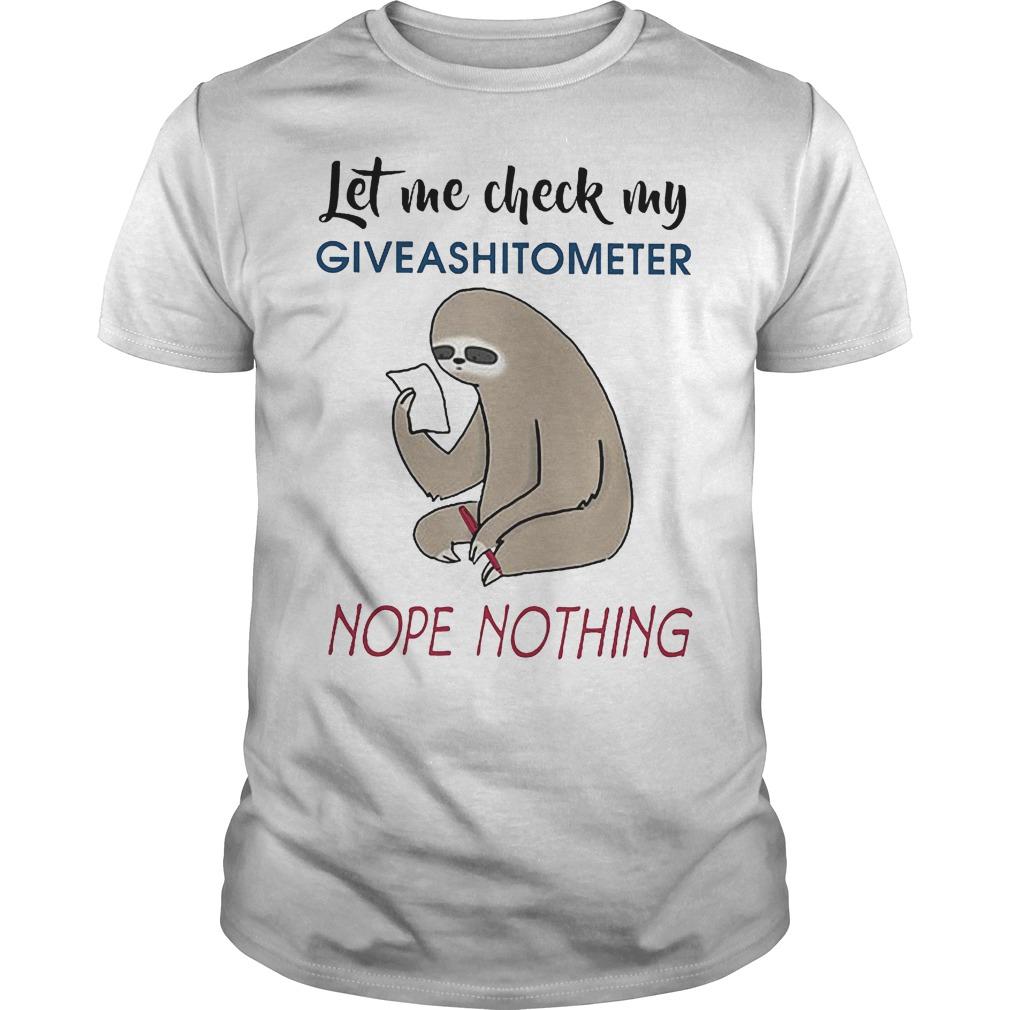 Let check my giveashitometer nope nothing shirt