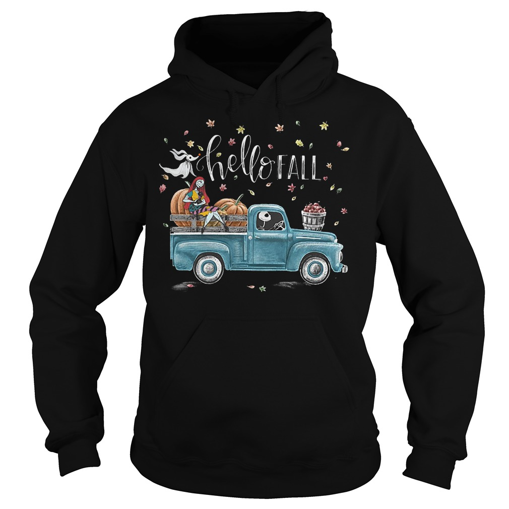 Sally and Jack Skellington hello fall shirt Hoodie