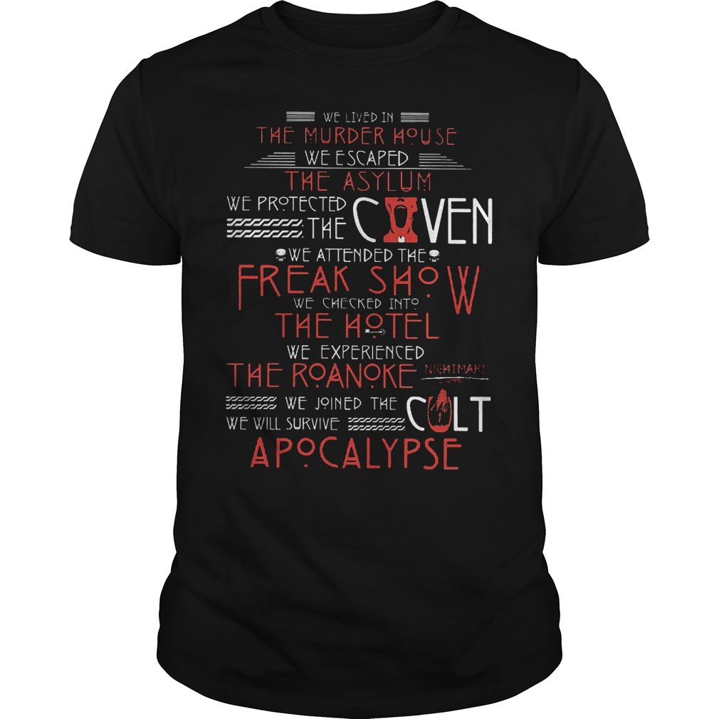 We lived in the murder house we escaped the asylum we protect the coven shirt