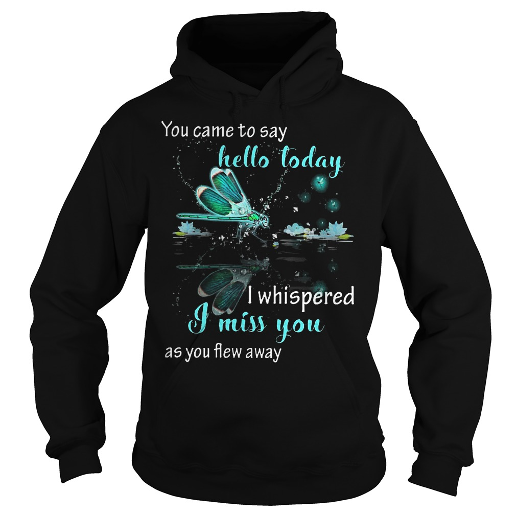 You came to say hello today i whispered i miss you as you flew away shirt Hoodie