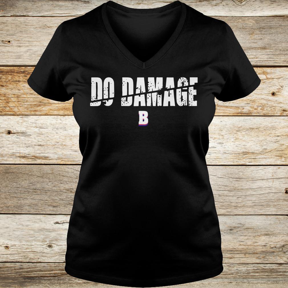 Best price Do Damage Boston shirt Ladies V-Neck