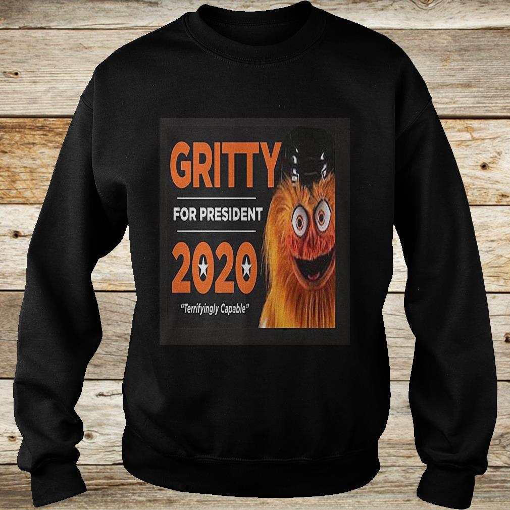 Gritty for president 2020 philly hockey mascot Shirt Sweatshirt Unisex