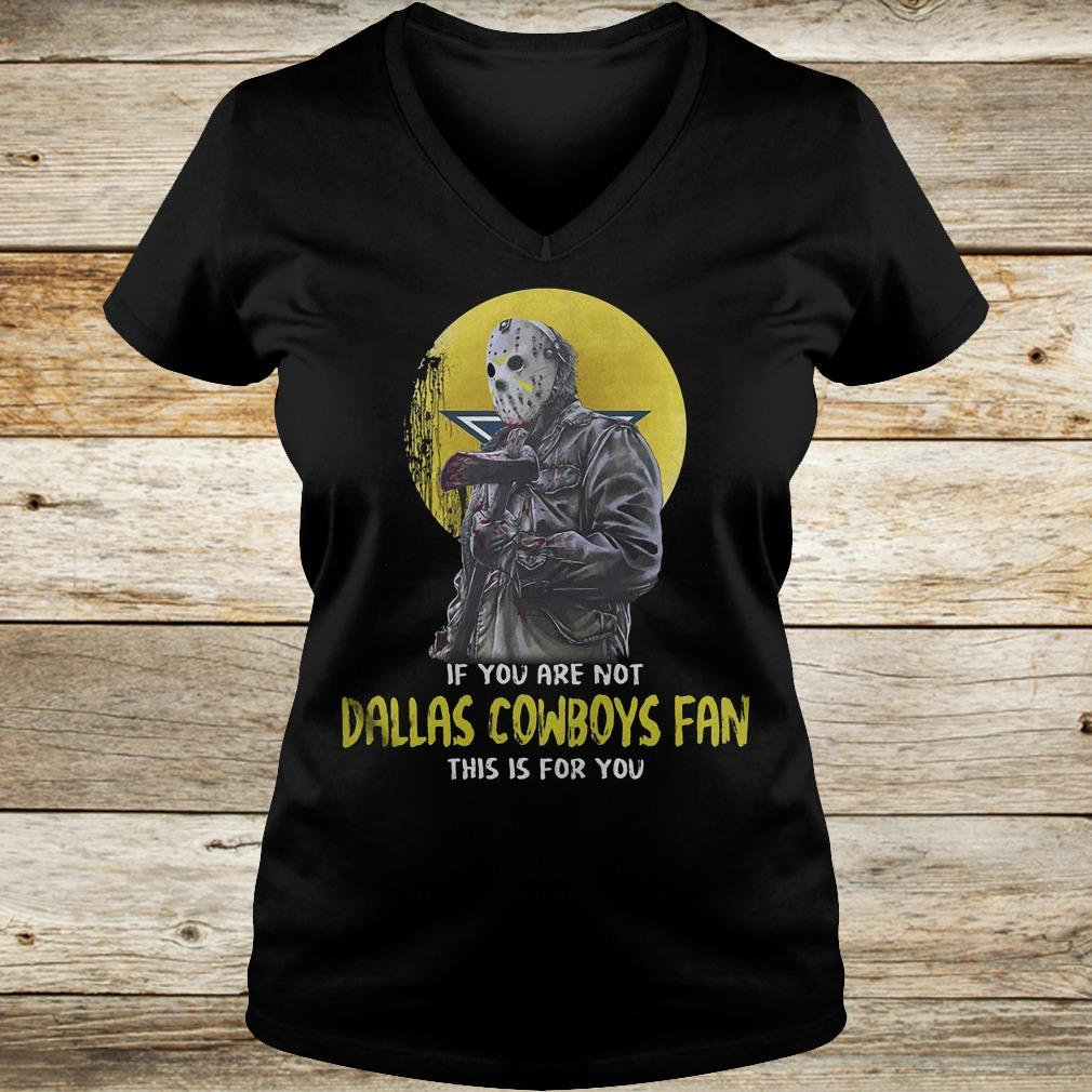 Jason Voorhees if you are not Dallas Cowboys fan this is for you Shirt Ladies V-Neck