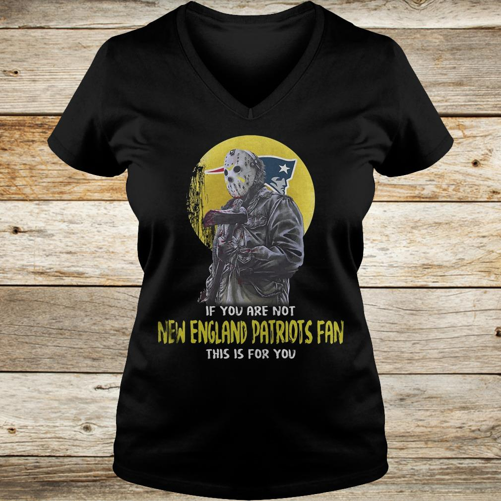 Jason Voorhees if you are not New England Patriots fan this is for you Shirt Ladies V-Neck