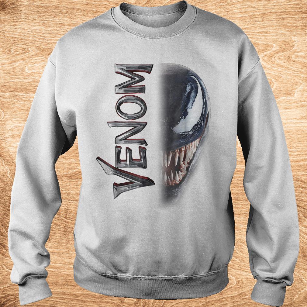 Marvel venom split down the middle Grin shirt Sweatshirt Unisex