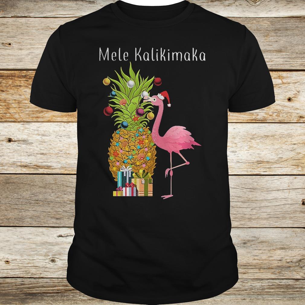 Mele Kalikimaka flamingo shirt