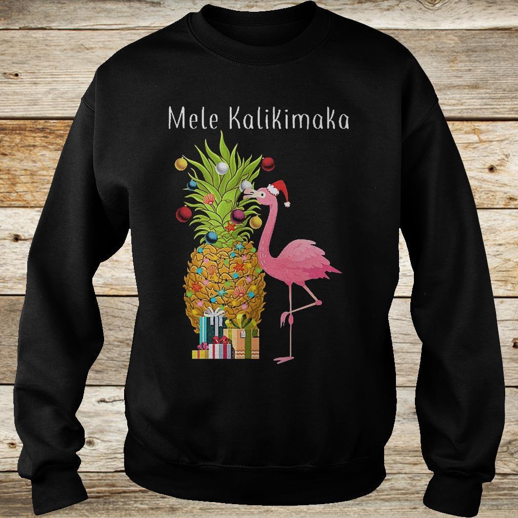 Mele Kalikimaka flamingo shirt Sweatshirt Unisex