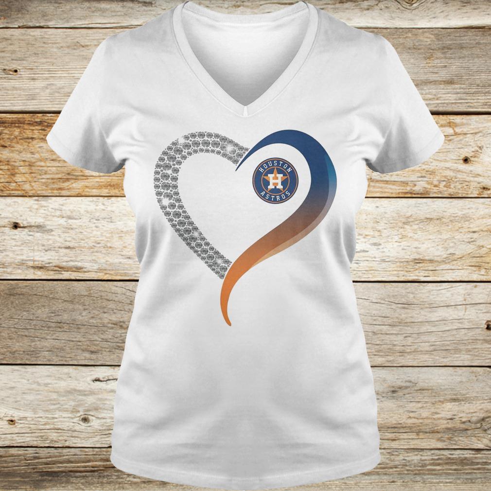 Official Houston Astros heart blink shirt Ladies V-Neck