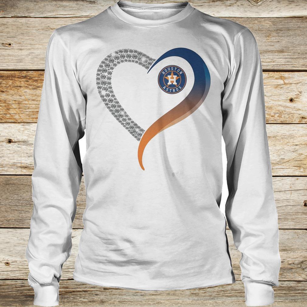 Official Houston Astros heart blink shirt Longsleeve Tee Unisex