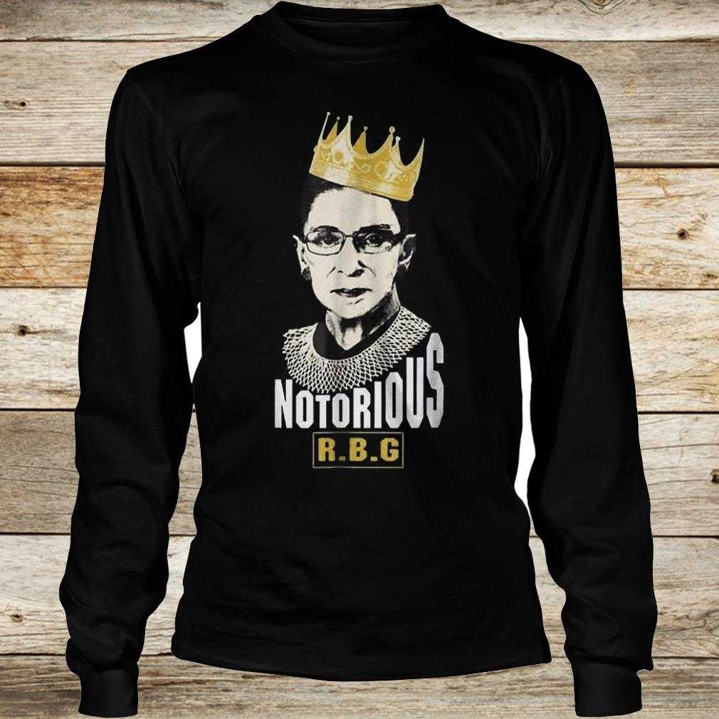 Official Notorious RBG Ruth Bader Ginsburg Shirt Longsleeve Tee Unisex