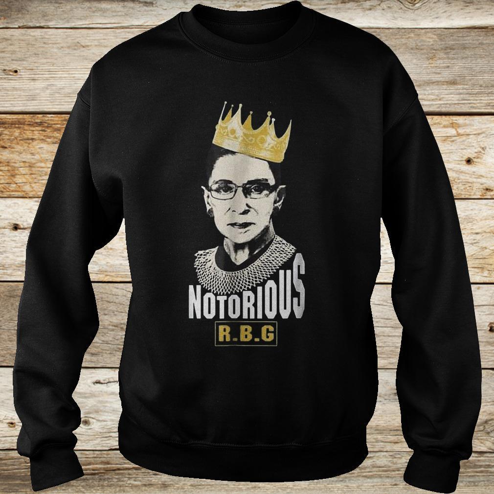 Official Notorious RBG Ruth Bader Ginsburg Shirt Sweatshirt Unisex