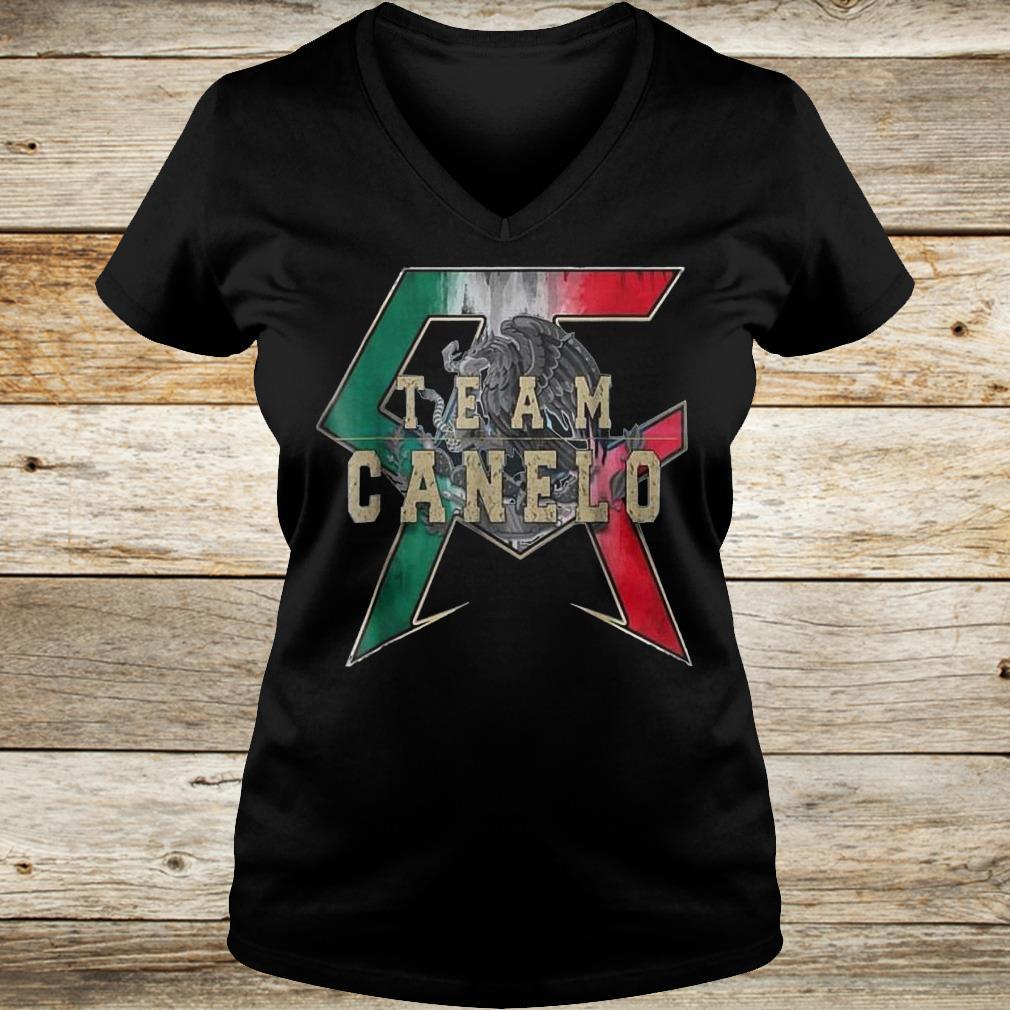 Official Team Canelo Eagle shirt Ladies V-Neck