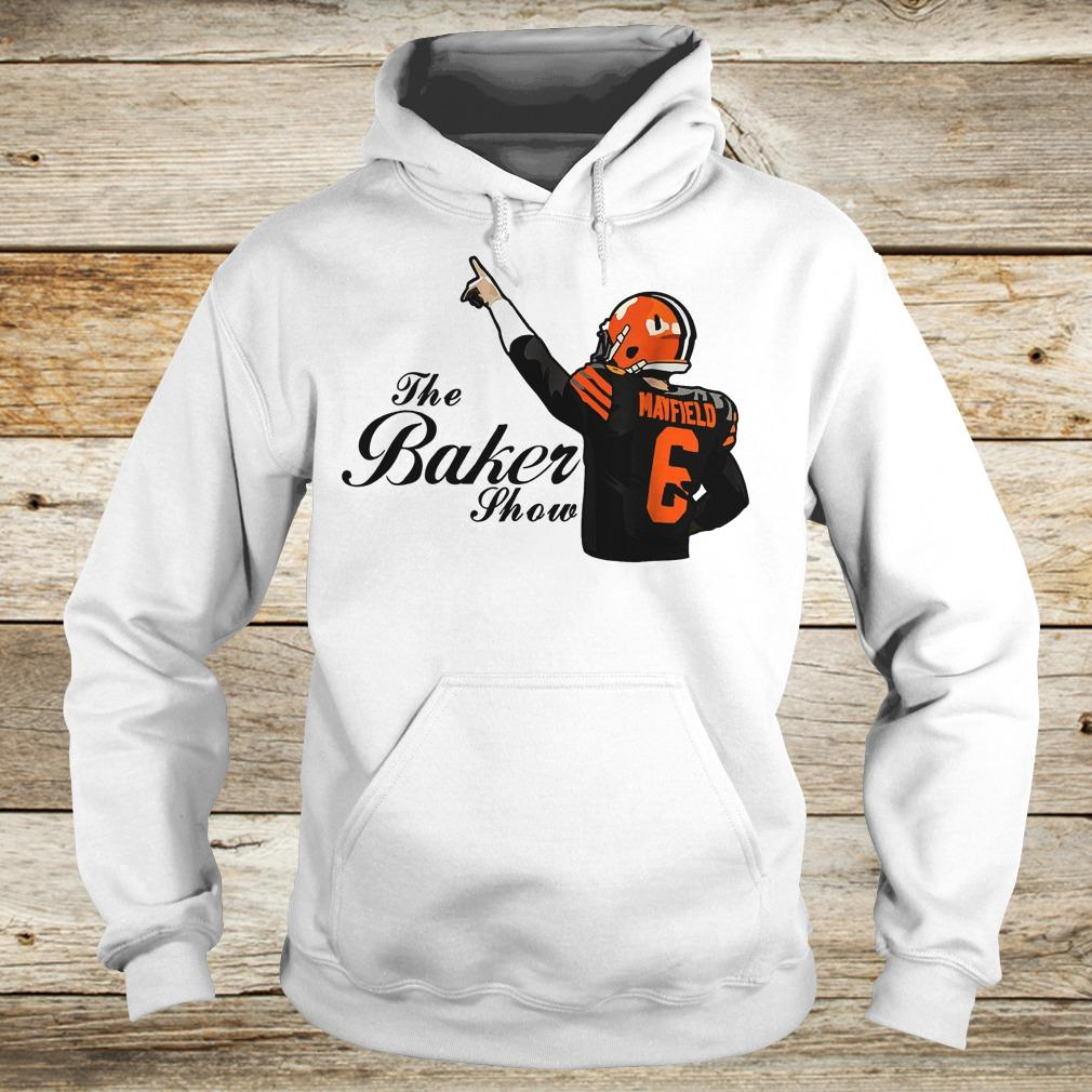 Cleveland Browns Christmas Sweater.Official The Baker Mayfield Show Cleveland Browns Shirt
