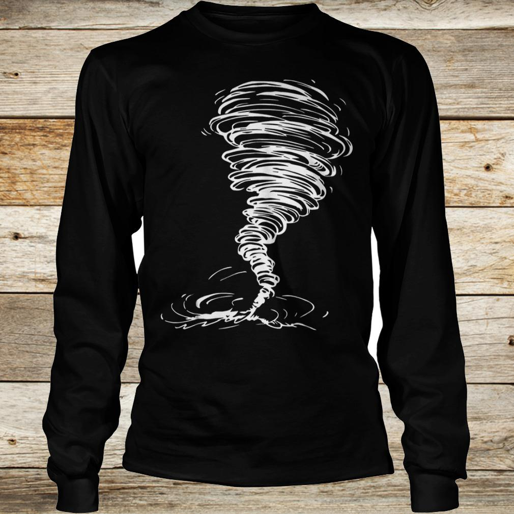 Official Tornado costume storm twister scary weather hurricane Shirt Longsleeve Tee Unisex
