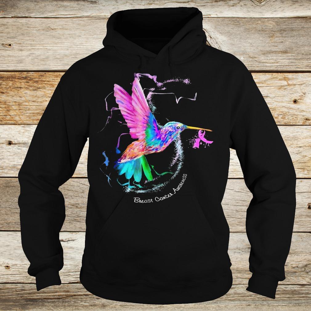Original Hummingbird ribbon breast cancer awareness Shirt Hoodie