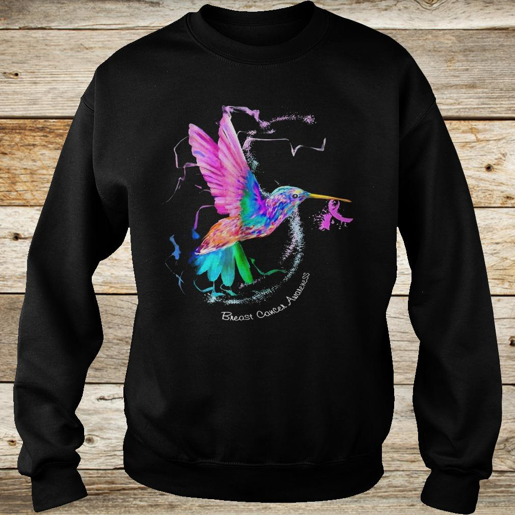 Original Hummingbird ribbon breast cancer awareness Shirt Sweatshirt Unisex