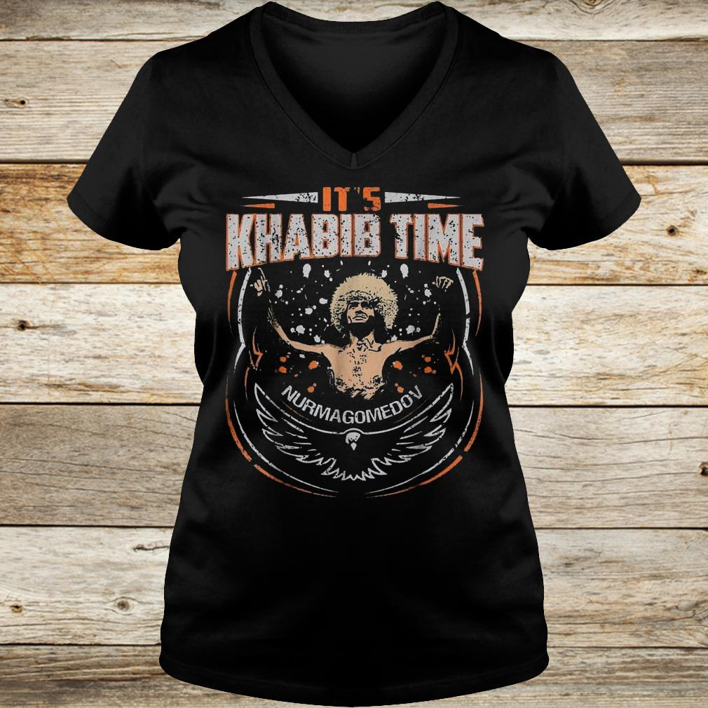 Premium It's Khabib time Nurmagomedov shirt Ladies V-Neck
