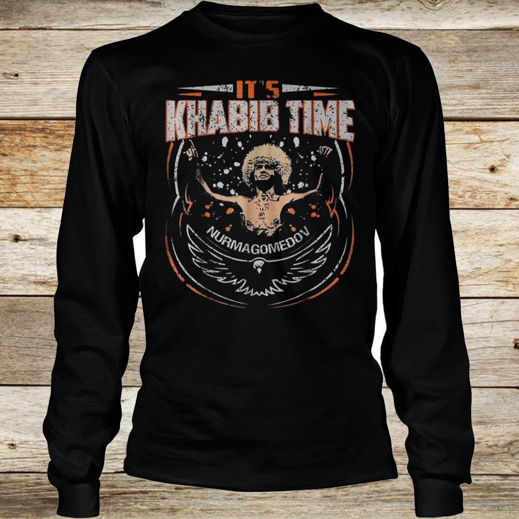 Premium It's Khabib time Nurmagomedov shirt Longsleeve Tee Unisex