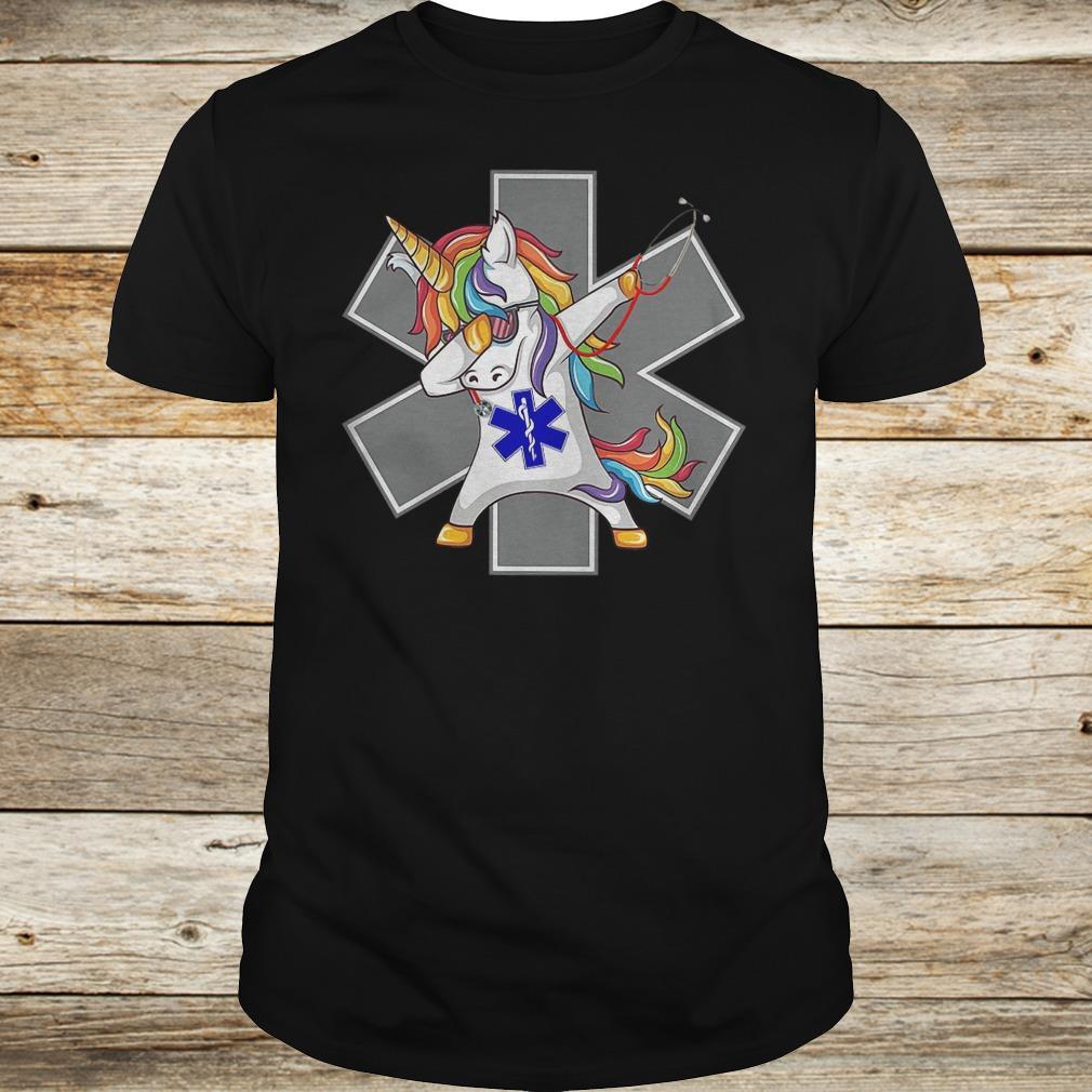 Premium Unicorn dabbing nurse strong magic shirt
