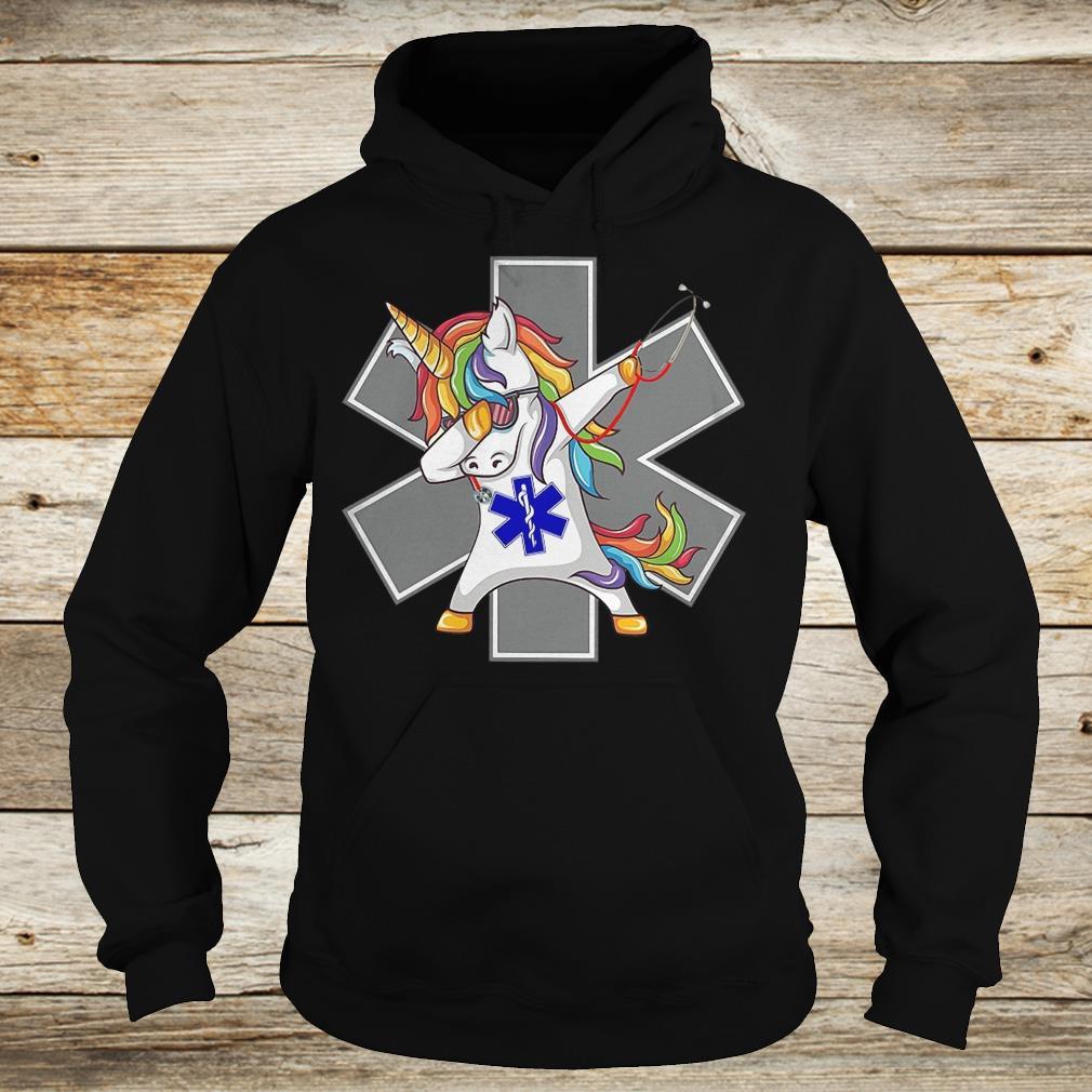 Premium Unicorn dabbing nurse strong magic shirt Hoodie