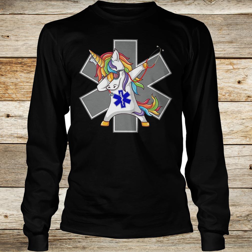 Premium Unicorn dabbing nurse strong magic shirt Longsleeve Tee Unisex