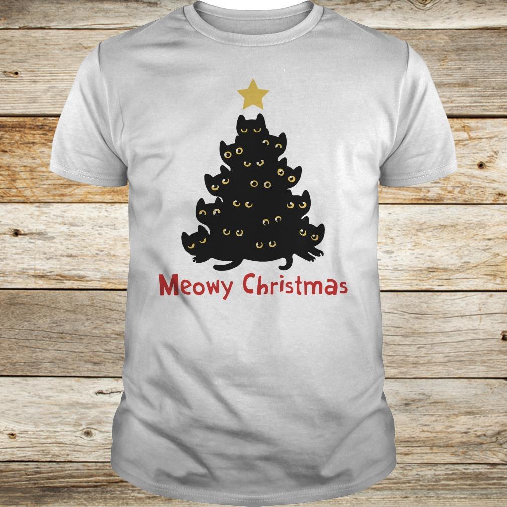 Awesome Christmas Tree Cat Meowy sweatshirt Classic Guys / Unisex Tee