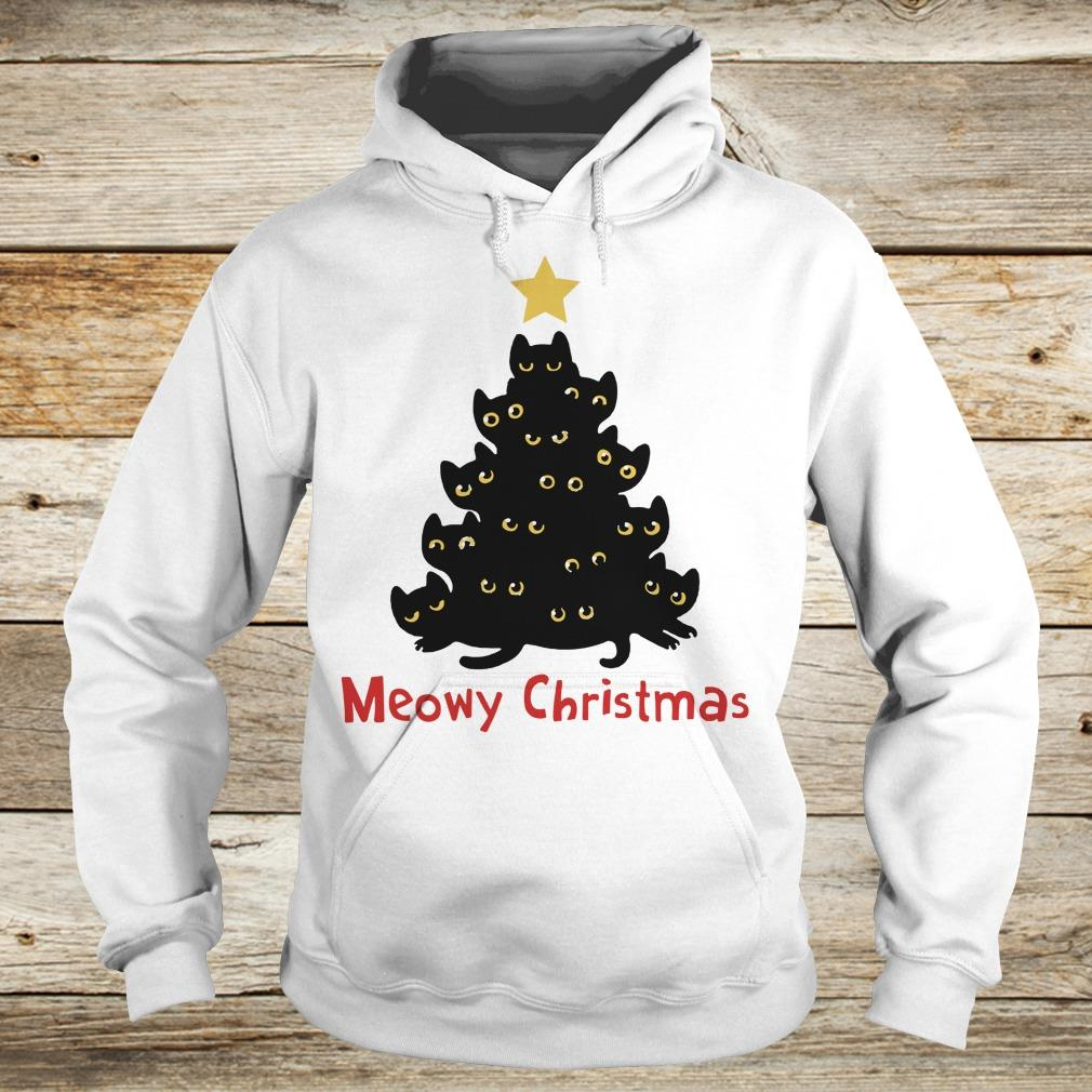 Awesome Christmas Tree Cat Meowy sweatshirt Hoodie