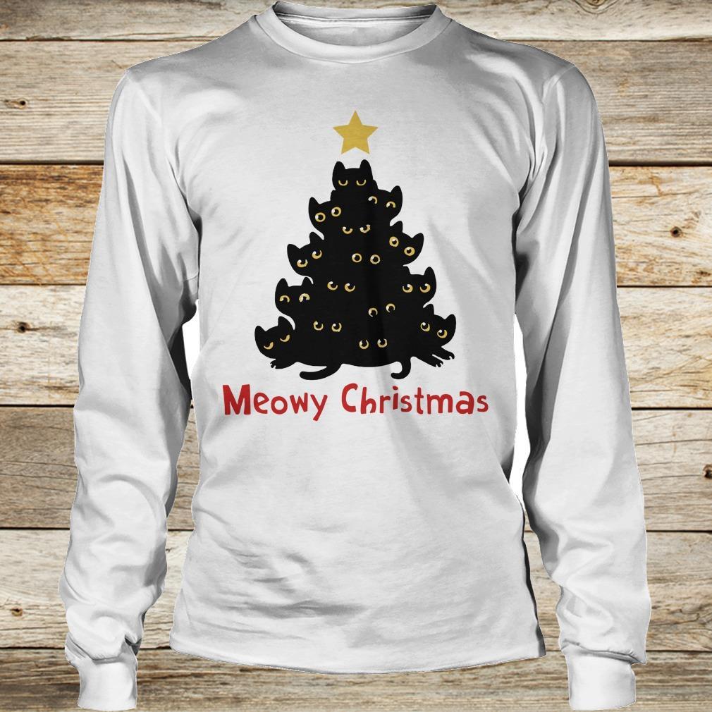 Awesome Christmas Tree Cat Meowy sweatshirt Longsleeve Tee Unisex