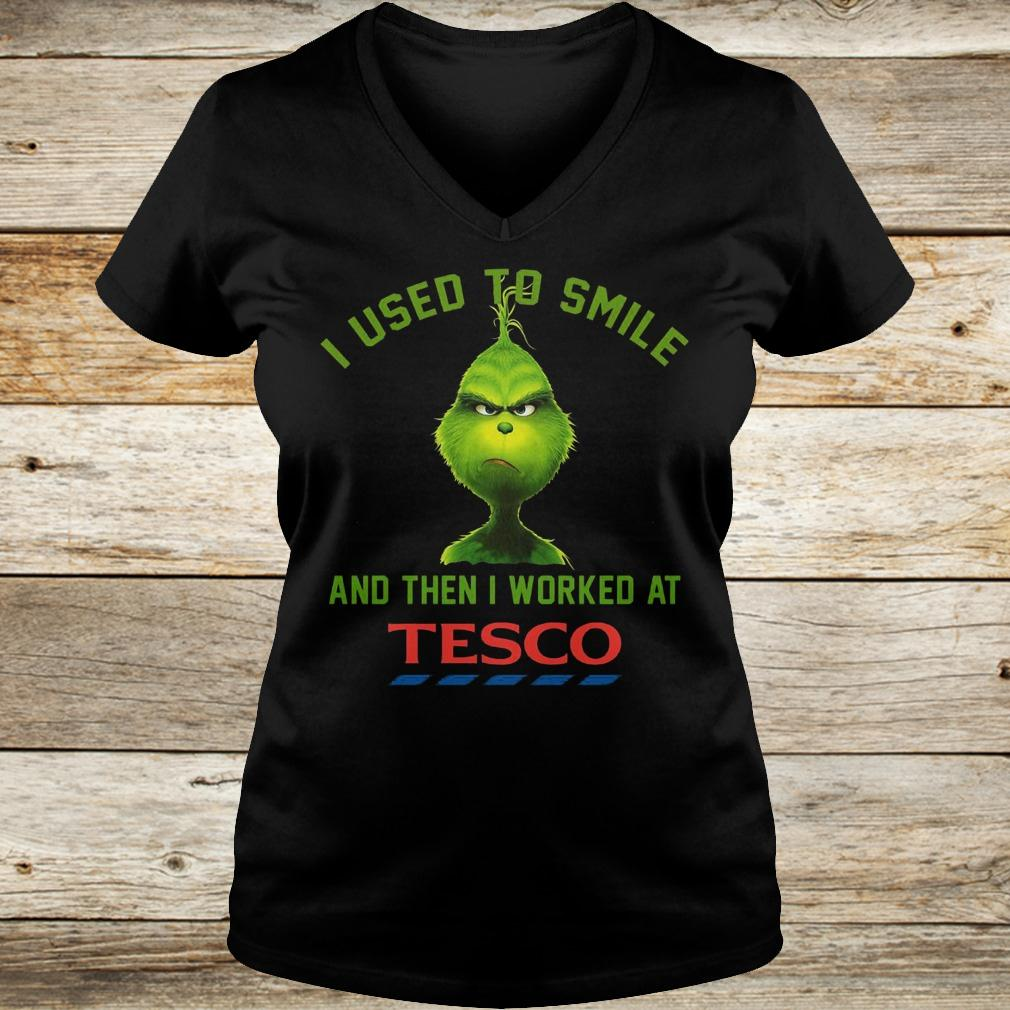 Best Price I used to smile and then i worked at Tesco shirt Ladies V-Neck