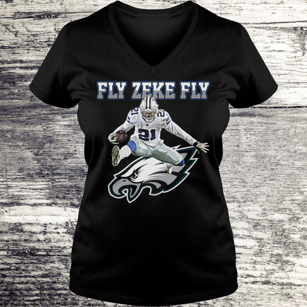 Best Price Philadelphia Eagles Fly Zeke Fly shirt Ladies V-Neck