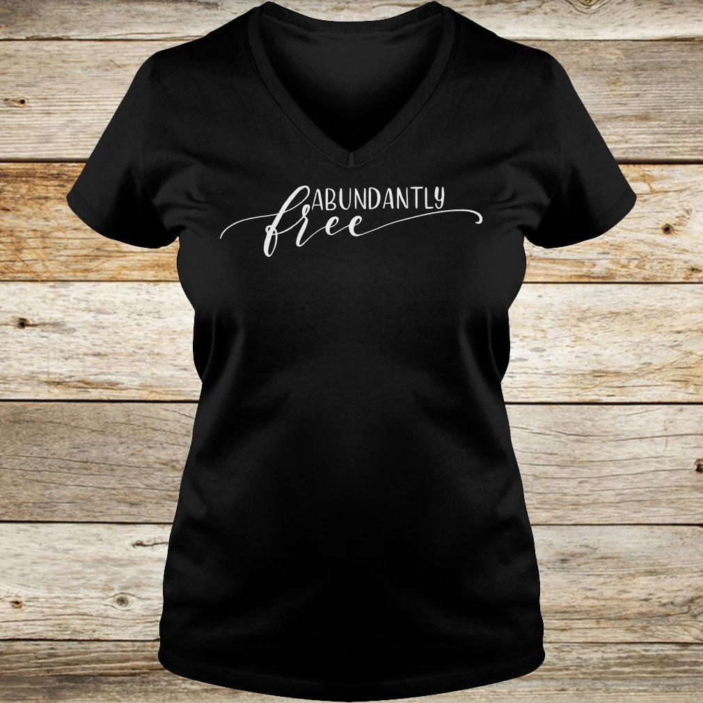 Best price Abundantly Free Ephesians shirt Ladies V-Neck
