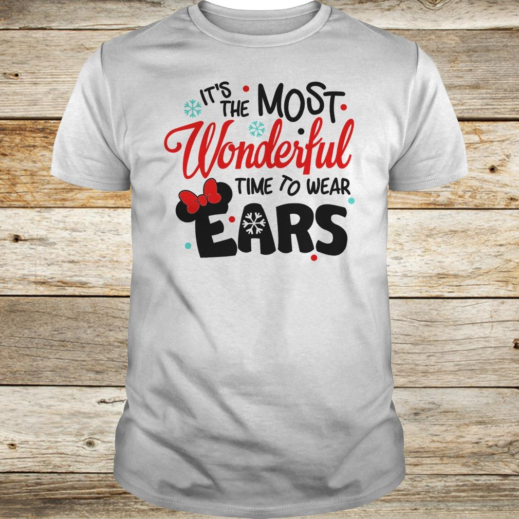 Disney It's The Most Wonderful Time To Wear Ears shirt Classic Guys / Unisex Tee