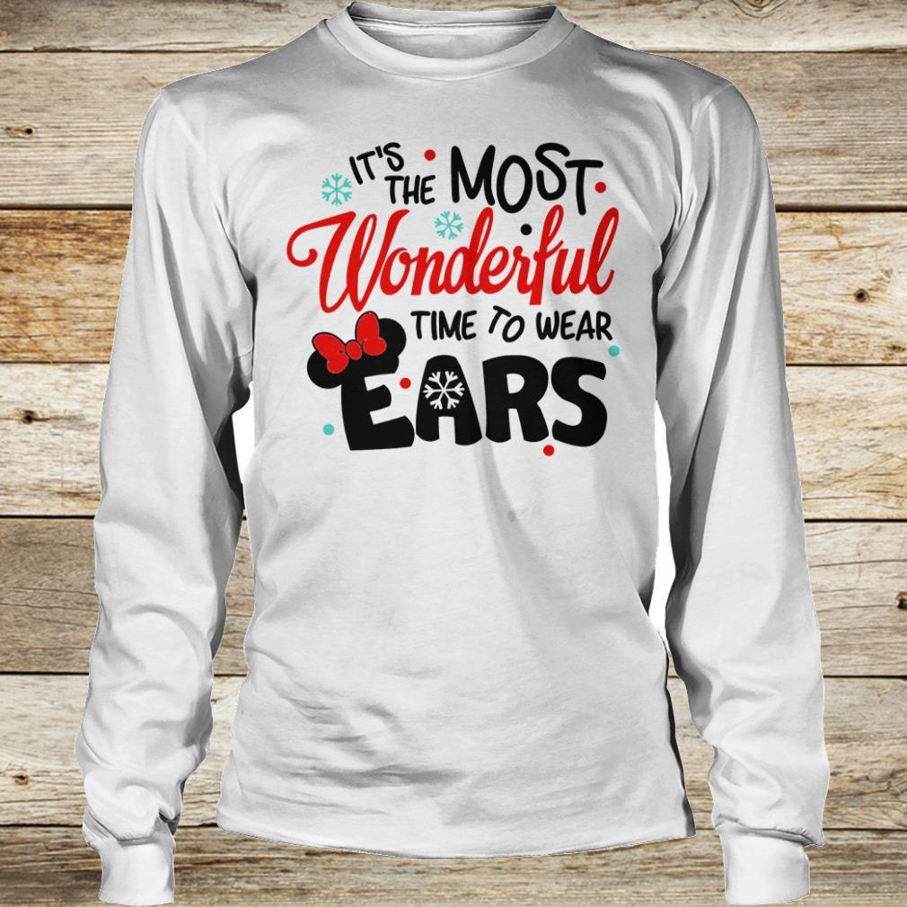 Disney It's The Most Wonderful Time To Wear Ears shirt Longsleeve Tee Unisex