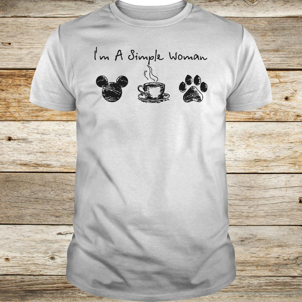 Hot I'm a simple woman I like Mickey Minnie Mouse Coffee and Dog shirt sweater