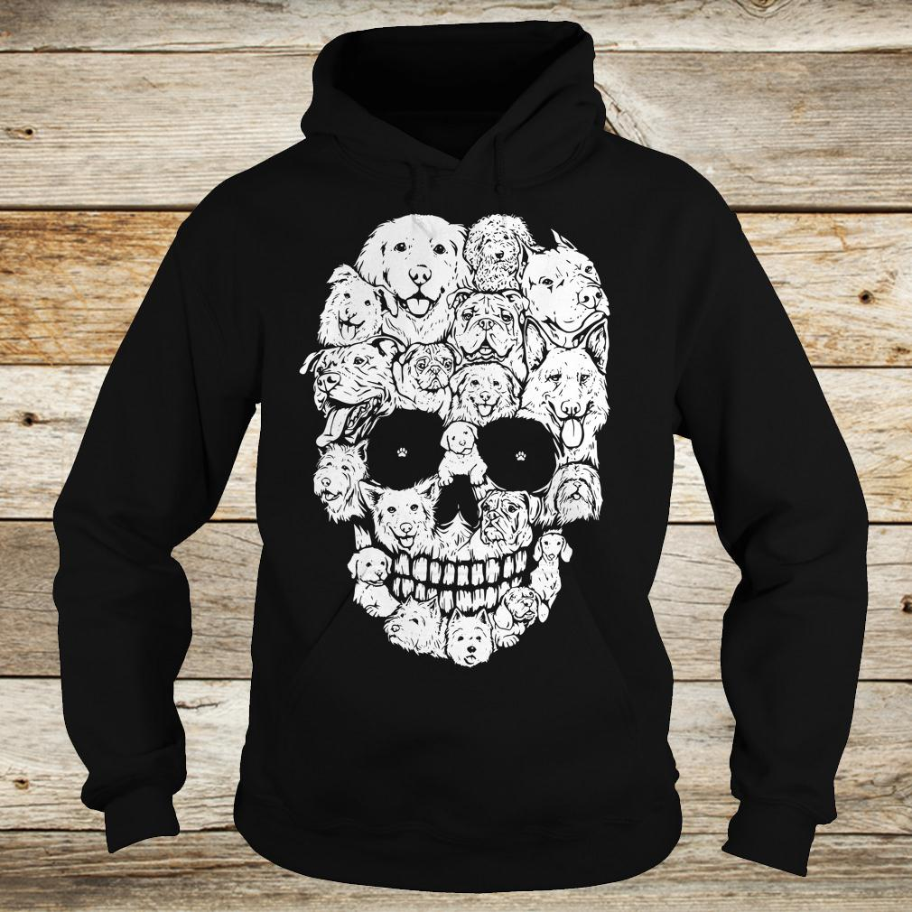 Official Dogs stacked into skull shirt Hoodie