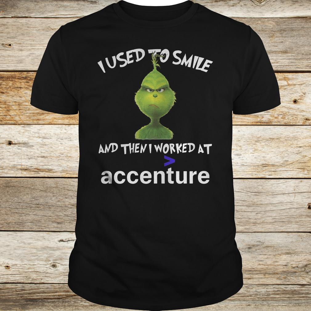 Official Grinch I used to smile and then i worked at accenture shirt Classic Guys / Unisex Tee