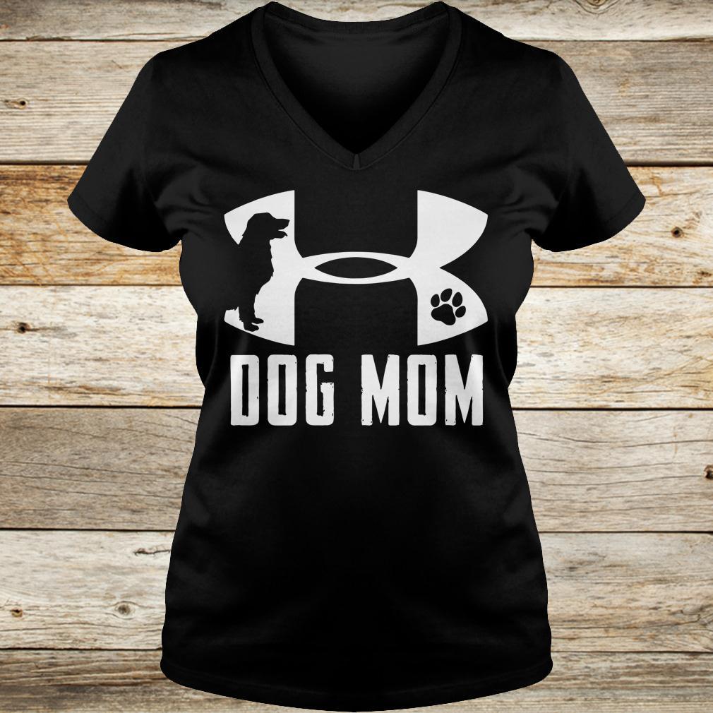 Official Under Armour Dog mom shirt Ladies V-Neck