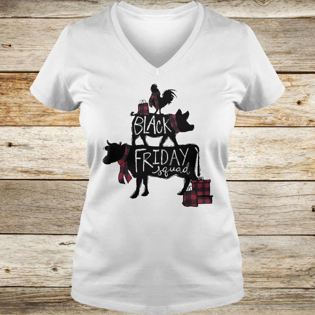 Premium Black friday squad shirt Ladies V-Neck