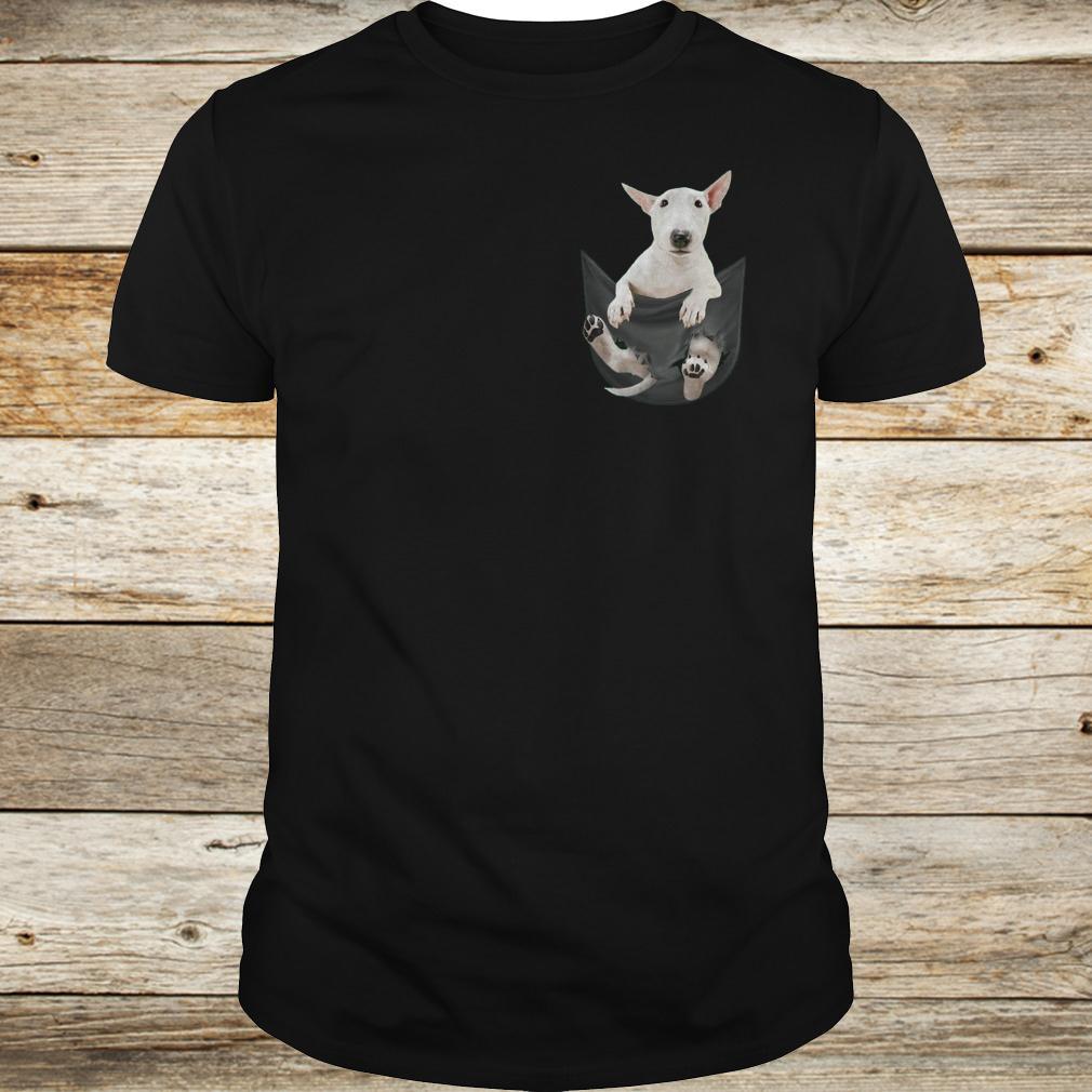 Premium Bull Terrier inside black Tiny Pocket shirt Classic Guys / Unisex Tee
