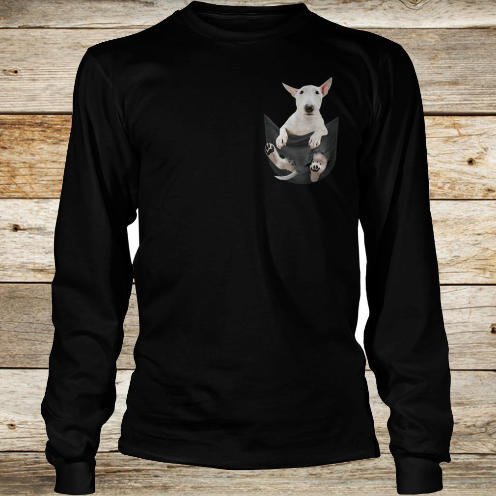 Premium Bull Terrier inside black Tiny Pocket shirt Longsleeve Tee Unisex