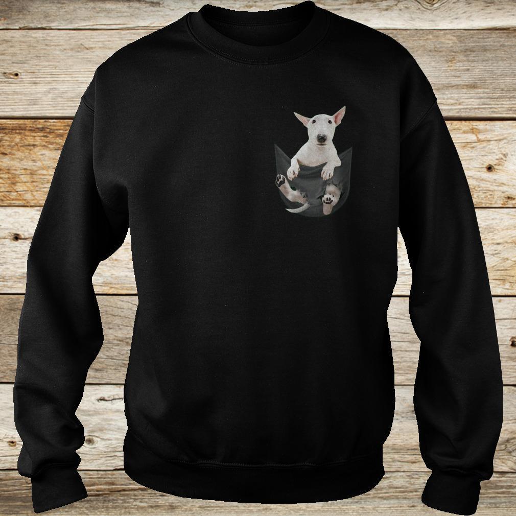 Premium Bull Terrier inside black Tiny Pocket shirt Sweatshirt Unisex