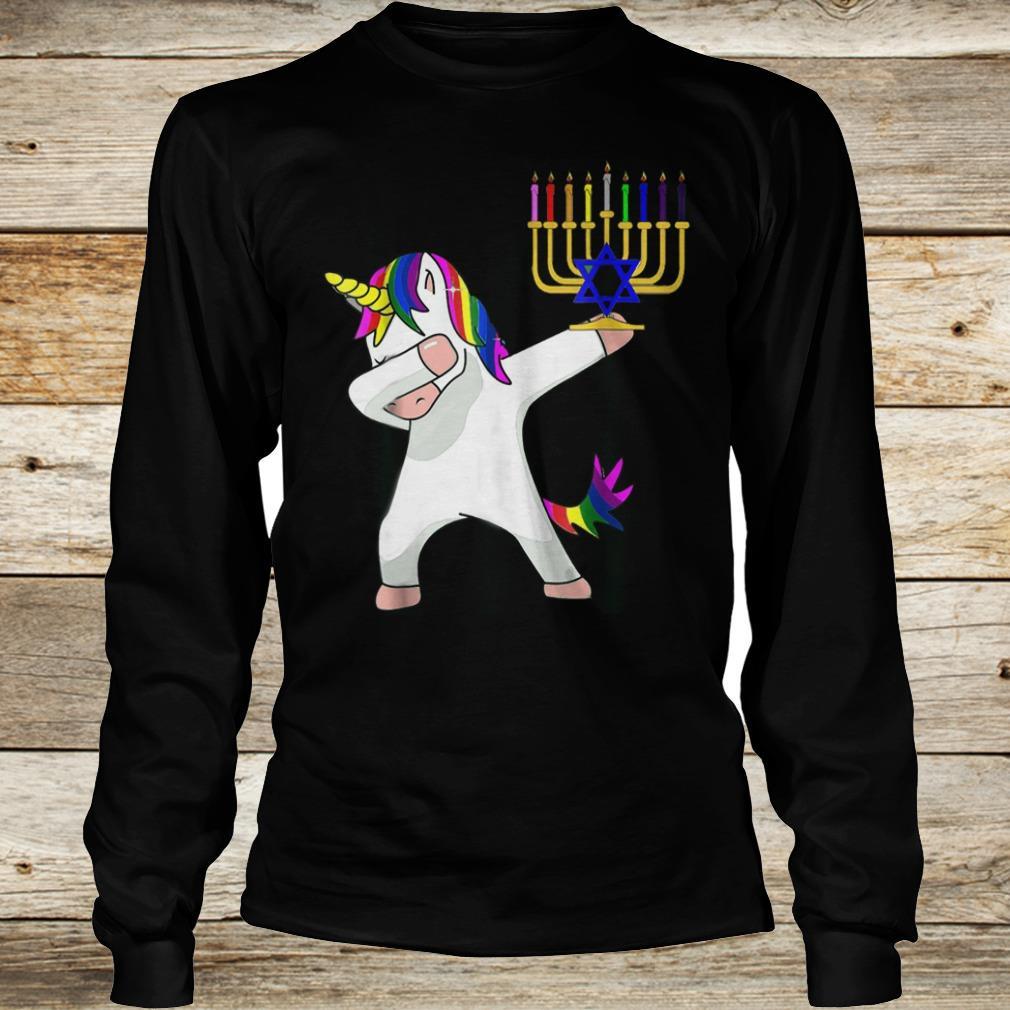 Premium Unicorn Dabbing Hanukkah shirt Longsleeve Tee Unisex